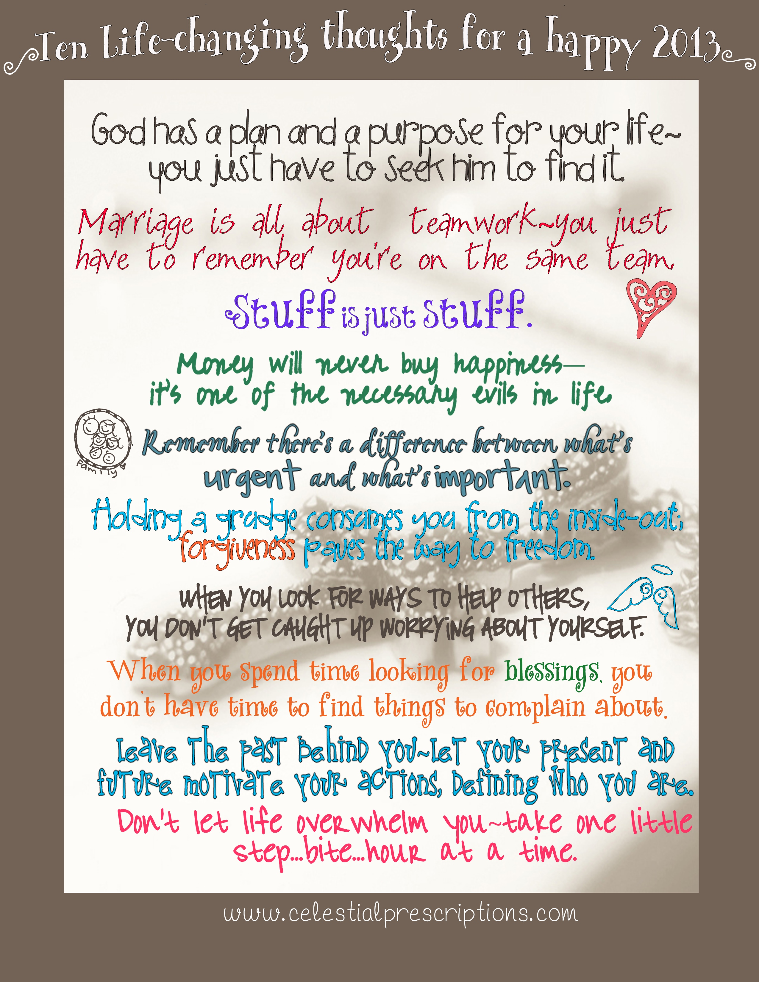 Ten LIfe-Changing Thoughts for a Happy 2013